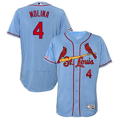 #4 Yadier Molina St. Louis Cardinals Alternate Flex Base Collection Player Jersey - Horizon Blue XXL