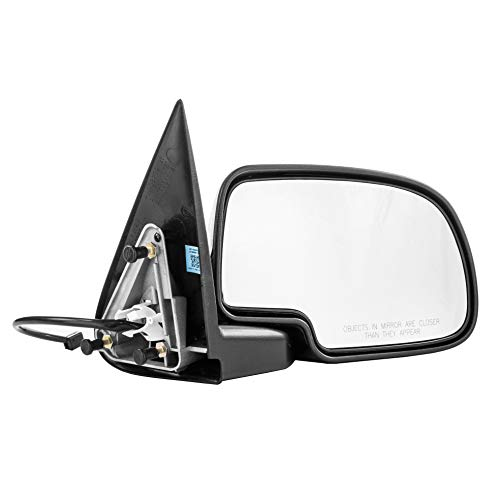 Passenger Side Mirror for Avalanche Chevy Silverado GMC Sierra 1500 2500 HD 3500 (1999 2000 2001 2002) Right Chrome Non-Heated Folding Outside Rear View Replacement Door Mirror