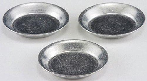 Dollhouse Miniature 1:12 Scale Set of 3 Aluminum Pie Pans
