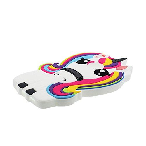 Huawei P8 Lite 2017 Coque, [ 3D Cartoon Licorne cheval Rainbow ] Case Huawei P8 Lite 2017 étui Cover, matériau TPU souple poussière glissement résistant aux rayures -unicorn & Bouchon anti-poussière