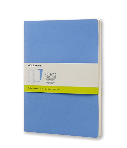 Moleskine Volant Journal Plain XL, Powder/Royal Blue (8051272890587)