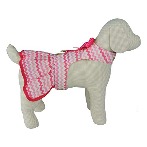 Vestido Chevron Bonito pra Cachorro para Cães Rosa - Tamanho P