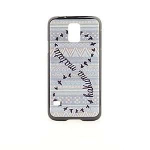 YXF Hakuna Matata Pattern PVC Back Case for Samsung Galaxy S5 i9600