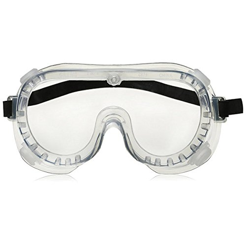 Crews 2230R Chemical Splash Goggle w/ Indirect Ventilation and Adjustable Strap, Clear by MCR Safety