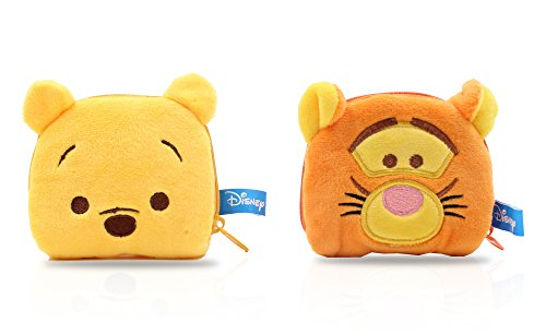 Three Mice Amazon Costume Blind (Finex - SET of 2 - Winne the Pooh and Tigger Plush Coin Bag Holder Purse Case stuffed Pouch for quarters dollars girls)