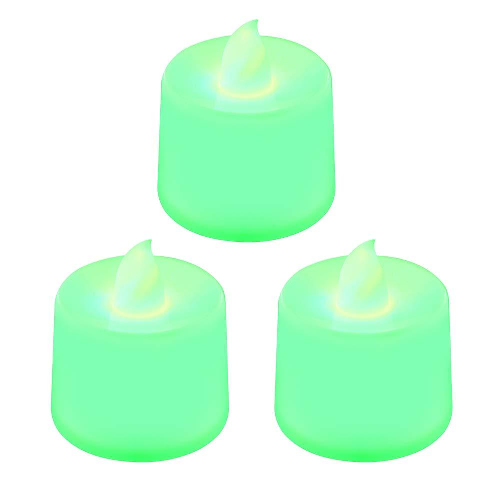 WEIHUIMEI 3 pz/Set Fake Flameless LED Light Tea Candles Unscented LED Tealight Candele per Feste Matrimoni e Natale e Proposta di Matrimonio