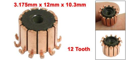 uxcell 10mm x 18.9mm x 10.5mm 12P Copper Bars Alternator Electric Motor Commutator