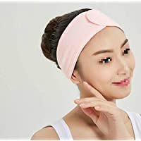 FYDT Woman Girl Wash Face Spa Stretch Elastic Adjustable Soft Headband Hair Band_Pink