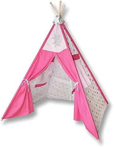 Amilian® Tipi Spielzelt Zelt für Kinder T02 Spielzelt (Spielzelt mit der Tipidecke und Kissen)