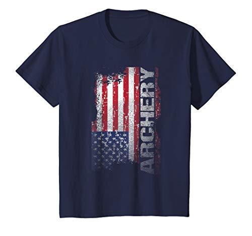 Kids Archery USA Flag T-Shirt 12 Navy