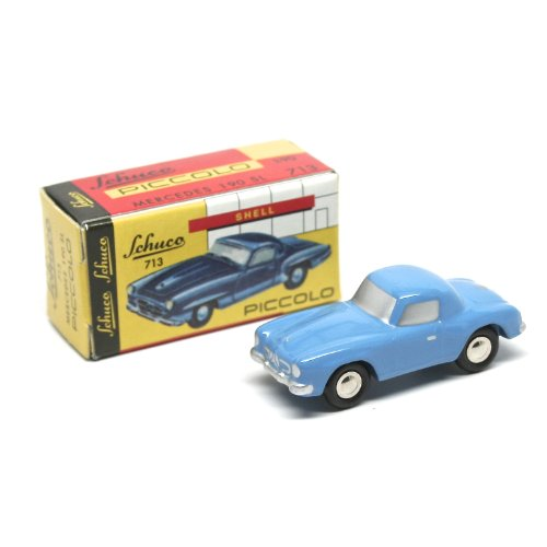 Mercedes 190 SL (BLUE) Schuco Piccolo 2002 Solid Die-Cast 1:90 Scale Vehicle