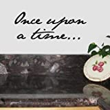 ONCE UPON A TIME Wall Room Decal Sticker Child Baby | Color: Midnight Black
