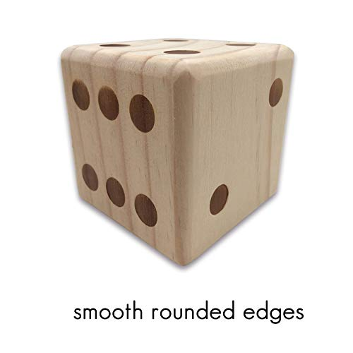 (SPORT BEATS Giant Replacement Wooden Yard Dice for Outdoor Fun , Barbeque , Picnic , Tailgating Games , Party Events , Lawn Games (One Single Piece))