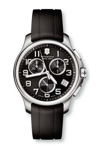 Victorinox Swiss Army - Reloj cronógrafo de cuarzo para hombre con correa de caucho, color