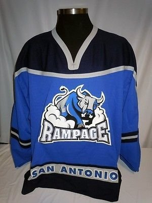 San Antonio Rampage AHL SP Authentic On Ice Game Issued Blue Hockey (Ahl Hockey Jerseys)