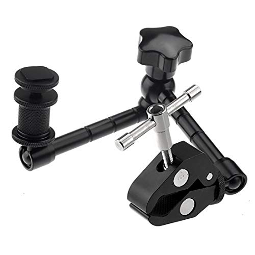 Hdslr Clamp (Dig dog bone 11 inch Adjustable Friction Articulating Magic Arm+Large Claws Clips Compatible DSLR/LCD Monitor)