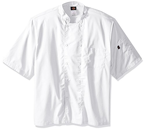 (Dickies Chef Men's Big and Tall Cool Breeze Coat, White, XXX-Large)