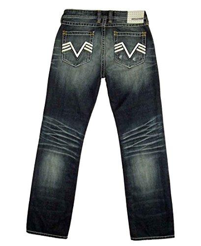 Affliction Men's Black Premium Blake Bandit Calico Jeans 33 Blue