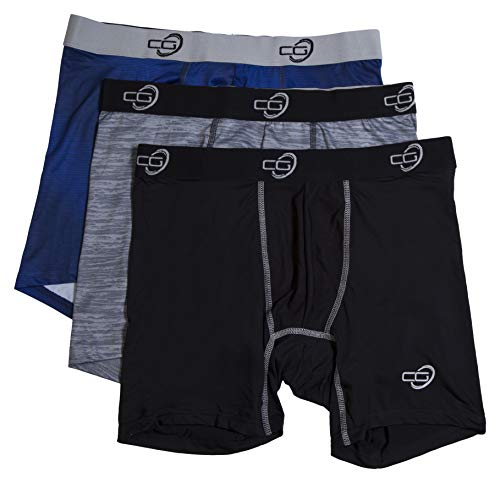 Championship Gold Mens 3-Pack Tagless Breathable Boxer Briefs