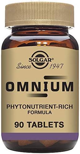 Solgar Omnium Phytonutrient Complex Multiple Vitamin Mineral Formula, 90 Tablets