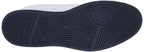 Reebok Club de la zapatilla de deporte clásico Memt Blanco/Azul marino (White/Collegiate Navy)