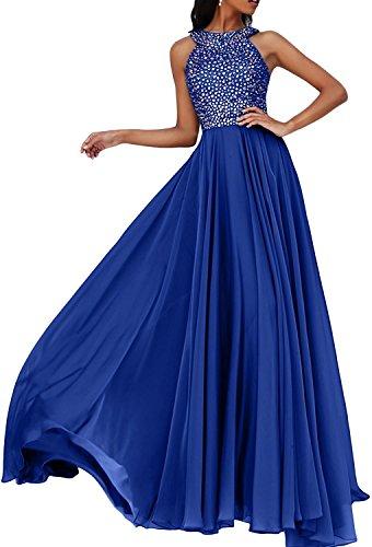 Steine Abendkleider Royal Ballkleider Festlichkleider Neu Marie Promkleider Langes Partykleider Braut La Blau wHq7EIUv