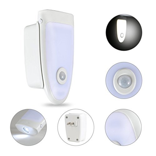 Price comparison product image 3-in-1 Rechargeable Torch,  Covenov Emergency Power Failure Night Light,  Automatic Motion Sensor Light, Plug-in Wall Night Lamp