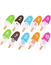 Toyvian 1 Set Snacks Number Pops Math Games Ice Cream Number Math Matching Game Preschool Educational Montessori Learning Toy Counting Game Fine Motor Toy for Kids Gifts