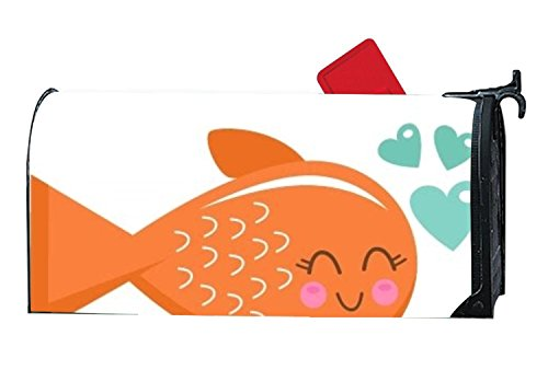KSLIDS Personalized Mailbox Covers Cute Fish Clipart Mailbox
