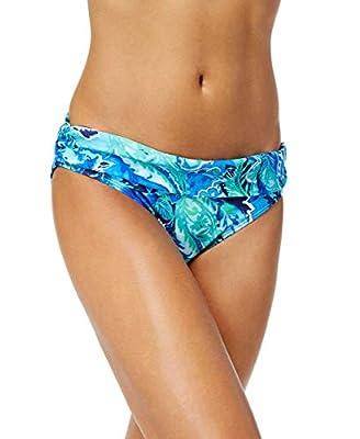 LAUREN RALPH LAUREN Womens Exotic Paisley Shirred Banded Hipster Bikini Bottoms