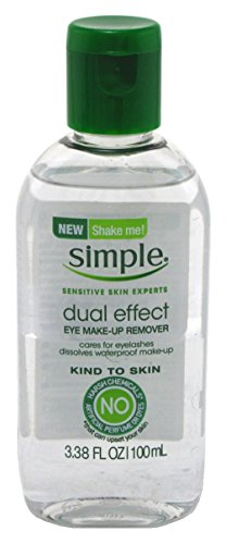Simple Eye Make-Up Remover Dual Effect 3.38 Ounce (2 Pack)