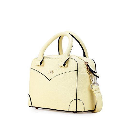 Barbie Bolso bandolera y baguette elegante de estilo chicas bolso casual con totes para mujer BBFB576 23x16x10.5CM amarillo