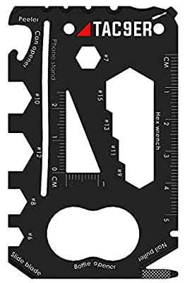 Tac9er 22-in-1 Wallet Multitool Credit Card Sized Survival Tool Fits in a Pocket EDC Rescue Gear for Quick Fixes by Tac9er
