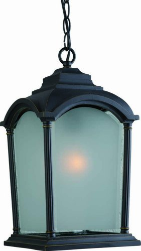 Artcraft Lighting Hartford Outdoor Large Chain Pendant Light, Bronze-Highlighted Black