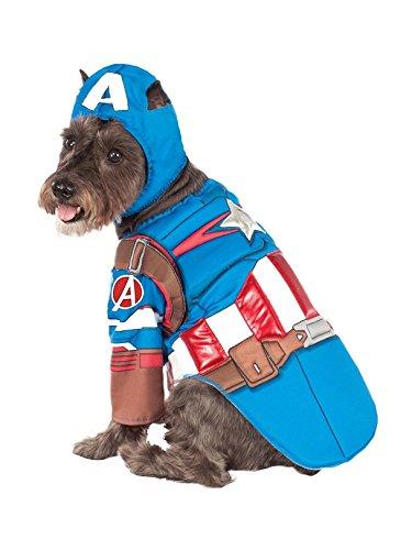 Rubie's Avengers Assemble Deluxe Captain America Pet Costume, Medium -