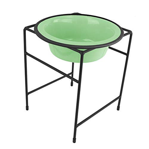 Platinum Pets Single Diner Feeder with Stainless Steel Dog Bowl, 6.25 cup/50 oz, Mint Green