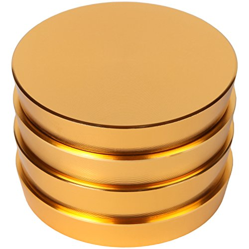 Zip-Grinders-Pagoda-Tower-Spice-and-Herb-Grinder-Four-Piece-with-Pollen-Catcher-Premium-Grade-Aluminum-25-Gold