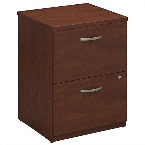 Bush Business Furniture Series C Elite 24W 2 Drawer Pedestal in Hansen Cherry (2 24 Drawer)