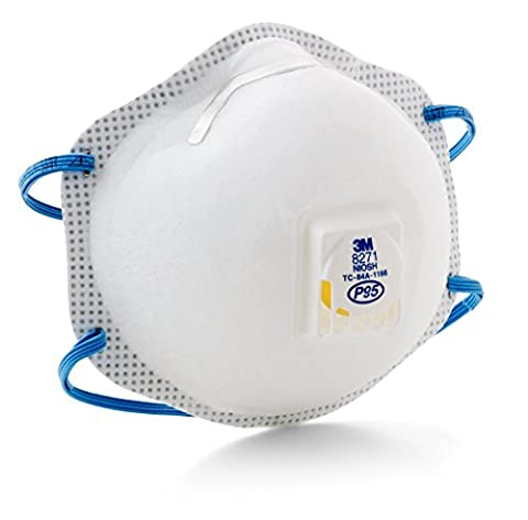 3M Particulate Respirator 8271, P95 (Pack of 10) - 20 User Lab Pack
