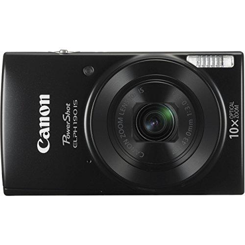 Canon PowerShot ELPH 190 IS Digital Camera (Black) w/ 16GB SDHC SD Card