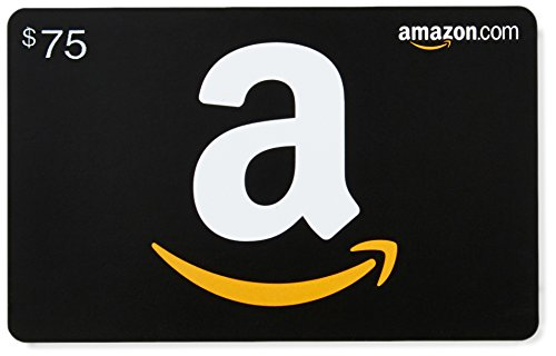 Large Product Image of Amazon.com $75 Gift Card in a Diamond Plate (Classic Black Card Design)