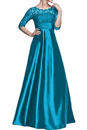 Blue Bride Women Long s Dresses Mother with Fanciest Half the of Lace Sleeves HROaW70qF
