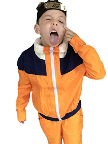 DAZCOS Child Size for Uzumaki Shippuuden Kids Cosplay Costume (Child S) Orange