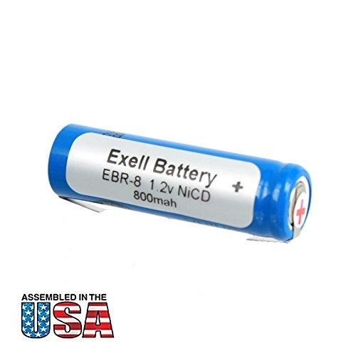 Exell 1.2V Razor Battery For Norelco RonsonWindmereBraun Razors Braun Types: 5556 5561 5563 Braun Models: 2500 2501 2505 2514 2515 2520 2525 2530 Norelco 600RX Ronson RFS-3 Windmere RFS3 RAZOR-8