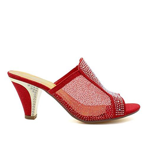 Ouvertes à red l'arrière Footwear London femme w6SFq5Z1