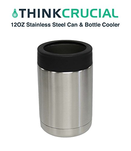Premium Stainless Steel 12 Ounce Can Cooler and Bottle Insulator, by Think Crucial (Nice Job If You Can Get It compare prices)