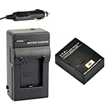 DSTE® AHDBT-302 Battery + DC137 Travel and Car Charger Adapter for Gopro HD Hero3 Hero3+ Camera
