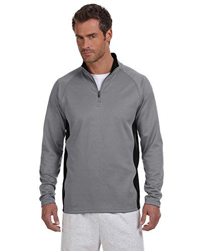 (Product of Brand Champion 54 oz Performance Fleece Quarter-Zip Jacket - Stone Gray/BLK - M - (Instant Savings of 5% & More))