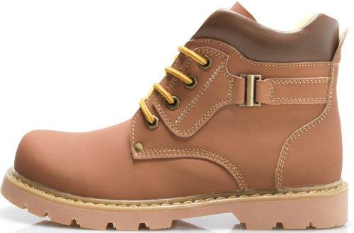 Dayiss® Herren Lederschuhe Knöchelschuhe Stiefeletten Ankle Boots Chukka Boots WinterSchuhe Innenseite mit Pelz Braun