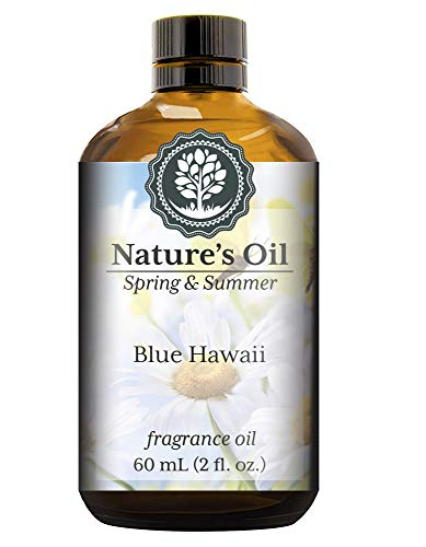 (Blue Hawaii Fragrance Oil (60ml) For Diffusers, Soap Making, Candles, Lotion, Home Scents, Linen Spray, Bath Bombs, Slime)